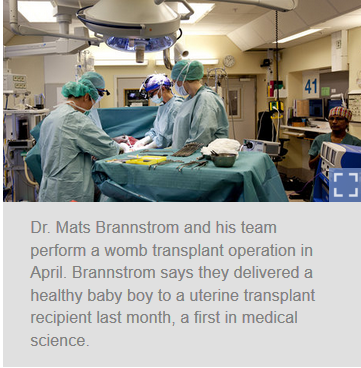 First Uterine Transplant